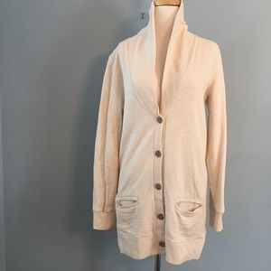 J. Crew rumpled French terry cotton cardigan small
